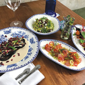 Jaffa focuses on old and modern Israeli dishes with a California twist. (photo by Jill Weinlein)