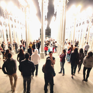 The Los Angeles County Museum of Art will opens its doors exclusively to college students for a night of discussions, tours and art-making. (photo by Brant Brogan)