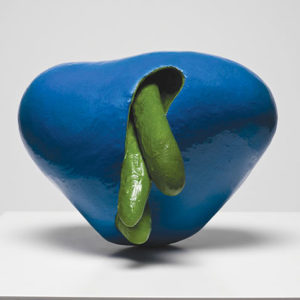 """L. Blue,"" a ceramic sculpture by Ken Price, will feature in an exhibition exploring connecting stories across mediums and time.  (photo courtesy of Fredrik Nilsen and the estate of Ken Price)"