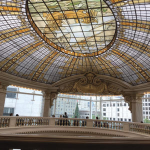 The Rotunda's domed, stained-glass ceiling is magnificent. (photo by Karen Villalpando)