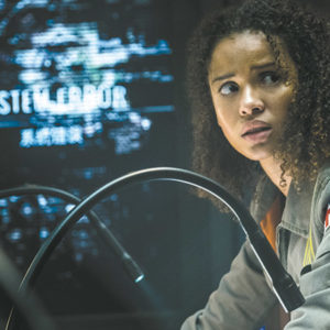 "(Gugu Mbatha-Raw stars as Hamilton in ""The Cloverfield Paradox,"" a disappointing third installment to the series.)"