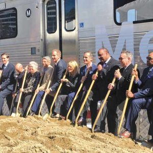 Civic leaders and Metro officials broke ground on Phase 2 of the purple Line Extension project, which will run under Beverly Hills to Century City. (photo by Gary Leonard on behalf of Metro)