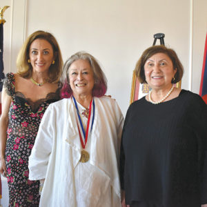 Joan Agajanian Quinn (center) was joined by Nicole Nishanian (left), president of Los Angeles-Armenian International Women's Association, and Ani Kharajian, president of International Board of the Armenian International Women's Association. (photo courtesy of Lili Balian/Armenian International Women's Association)
