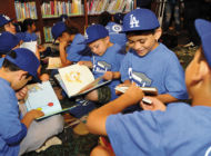 Dodgers challenge students to read