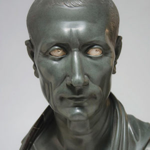 The Getty's new exhibition will explore developments in private and royal portraiture, including portraits of Cleopatra, Julius Caesar (above) and Marc Antony. (photo courtesy of the Getty Center)