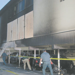 Harry Burkhart struck at numerous locations, including this apartment building in Hollywood. (photo by Edwin Folven)