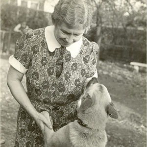 Helen Keller loved the Japanese Akita dog breed. (photo courtesy of Perkins School for the Blind Archives)