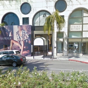 Three suspects were arrested after a burglary and robbery at Alitsiya Design in Beverly Hills. (photo courtesy of Google Maps)