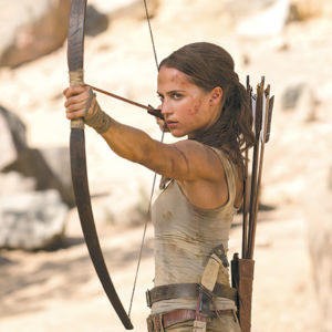 "Alicia Vikander stars as Lara Croft in the new ""Tomb Raider"" reboot. (photo courtesy of Warner Bros. Pictures)"