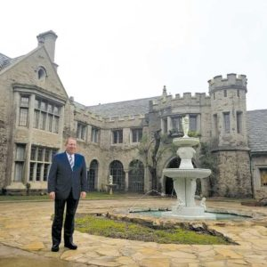 Councilman Paul Koretz, 5th District, shown at the Playboy Mansion last Friday, helped broker an agreement that will preserve the residence. (photo courtesy of the 5th District Council Office)