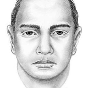 Authorities released a sketch of the suspect during the investigation. (photo courtesy of the LAPD)