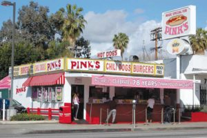 The chili cheese dog at Pink's Hot Dogs has been named No. 1 in California. (photo by Edwin Folven)