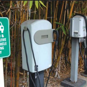 Cities throughout California have been trying to make it easier for drivers to charge their electric vehicles as more of them take the road statewide. (photo by Edwin Folven)