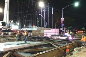 The Purple Line Extension project is making its way through Beverly Hills. (photo courtesy of Metro)