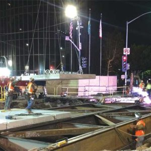 The Purple Line Extension project is making its way into Beverly Hills. (photo courtesy of Metro)
