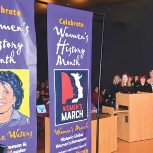 The West Hollywood City Council unveiled these Women's History Month banners at its meeting on March 5. (photo courtesy of the city of West Hollywood)