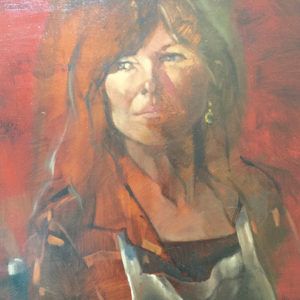 "Ingrid Allen's painting ""Mom Liv"" is included in the exhibit. (photo courtesy of Julie Stromberg)"