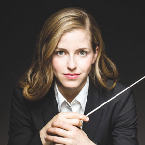 Karina Canellakis will lead the Los Angeles Chamber Orchestra in performances at the Alex Theatre and Royce Hall. (photo by Todd Rosenberg)
