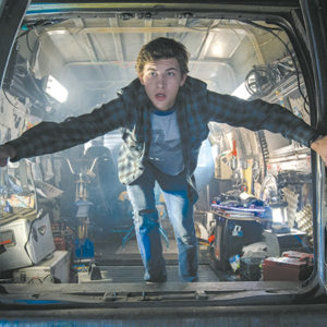"Tye Sheridan stars as Parzival/Wade in Ready Player One,"" Steven Spielberg's new film celebrating the pop culture of the 1980s. (photo courtesy of Warner Bros. Pictures)"