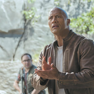 "Dwayne Johnson is primatologist Davis Okoye in ""Rampage,"" a film based on a video game that does little to set itself apart. (photo courtesy of New Line Cinema)"