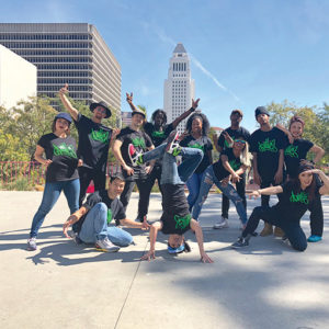 "Antics Dance Theatre will perform ""Sneaker Suites,"" a show featuring dancers, live spoken word poetry and short films, at this year's arts festival in Grand Park. (photo courtesy of Javier Guillen for Grand Park/The Music Center)"