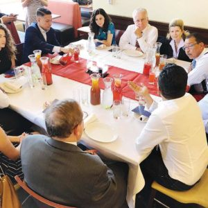 The first embRACE LA meal of 2018 brought together a wide array of Angelenos to discuss racism in the city. (photo courtesy of Council President Herb Wesson's office)