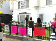 Residents on Hayworth Ave. protest Ellis Act evictions