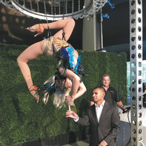 Performers entertained at the Beastly Ball as guests sampled food from many of L.A.'s finest restaurants. (photo by Tim Posada)
