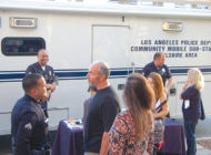 Officers join residents in show of solidarity at Park La Brea