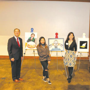 "Rep. Adam Schiff was joined by first place winner Jennifer Bae, second place winner Abrielle Marsden, third place winner Alejandra Santana and ""People's Choice"" award winner Vilen Manukyan at a Congressional Art Contest ceremony on May 3. (photo courtesy of Rep. Adam Schiff's office)"