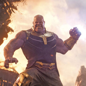"Josh Brolin appears as the villain Thanos, the mad Titan, in ""Avengers: Infinity War."" (photo courtesy of Marvel Studios)"