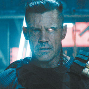 """Josh Brolin appears as Cable, a futuristic mutant law enforcer, in """"Deadpool 2."""" (photo courtesy of 20th Century Fox)"""