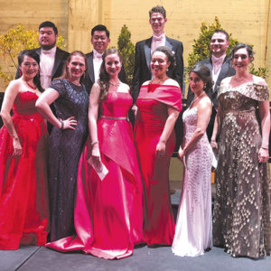 The Loren L.Zachary Society saluted the young vocalists who won prizes in the organization's annual vocal competition. (photo courtesy of Michele Patzakis)