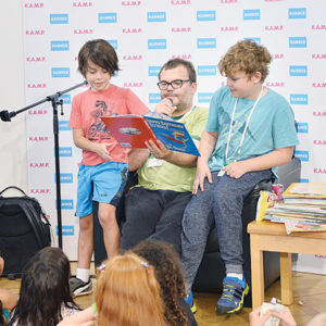 "During last year's event, actor and comedian Jack Black read Dr. Seuss' ""Happy Birthday to You!"" to eager children. (photo by Stefanie Keenan/Getty Images for Hammer Museum)"