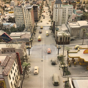 The Hollywood Heritage's miniature diorama recreates street scenes in Hollywood in the 1930s.  (photo courtesy of Nervosa Silao)