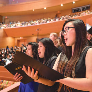 The High School Choir Festival will feature a performance highlighting the works of Joseph Haydn, Astor Piazzolla and Paul Simon. (photo by Frances Chee)