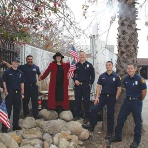 Los Angeles Fire Station 29 will soon have a new garden that features drought-tolerant plants native to California, a dry streambed and boulders. (photo courtesy of Lyn MacEwen Cohen)