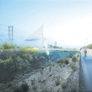 A cable-stayed bridge to be built over the Los Angeles River will provide greater access to Griffith Park. (photo courtesy of the city of Los Angeles Department of Public Works)