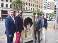 Leading actresses honored with utility box art
