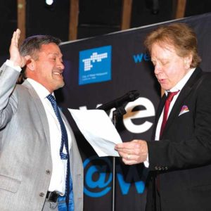 West Hollywood City Councilman John Duran was sworn in as the city's mayor for the next year by singer Eddie Money. (photo by John Viscott)