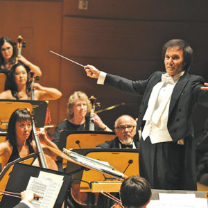 Gary S. Greene, Esq. conducts the Los Angeles Lawyers Philharmonic and its chorus, Legal Voices. (photo courtesy of the Los Angeles Lawyers Philharmonic )