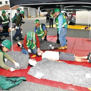 Participants in the Community Emergency Response Team training learn triage and lifesaving skills. (photo courtesy of cert-la.com)