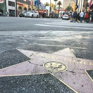 Some stars on the Hollywood Walk of Fame are cracked and need repairs. The Los Angeles City Council on June 27 approved funding for a plan to study possible improvements that could include repairs along the sidewalks adjacent to Hollywood Boulevard. (photo by Luke Harold)