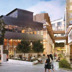 A rendering of the completed project shows the revitalized site of the Factory Building. (photo courtesy of the city of West Hollywood)