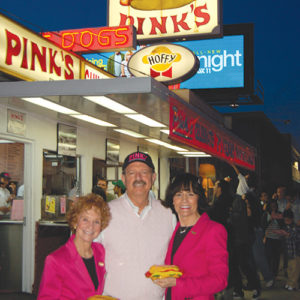 Beverly Pink Wolfe (left) and Richard and Gloria Pink have continued the family business for 78 years. (photo by Edwin Folven)