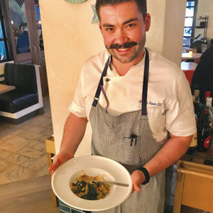 "Chef Joe Sasto, a finalist in Season 15 of ""Top Chef,"" has opened Cal Mare with Michael Mina and Adam Sobel. (photo by Jill Weinlein)"