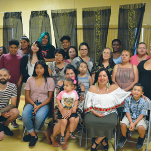 Artist Betsabeé Romero recently taught a printmaking workshop for 45 public housing residents. (photo courtesy of the CDC/HACoLA)