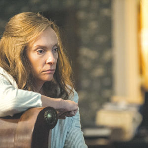 "Toni Collette stars as Annie, who grapples with the effects of an unsettling childhood in ""Hereditary."" (photo courtesy of A24)"