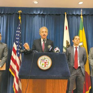 City Attorney Mike Feuer announced a settlement with a Los Angeles funeral home in a lawsuit alleging deceptive and unlawful business practices. (photo courtesy of the Los Angeles City Attorney's Office)