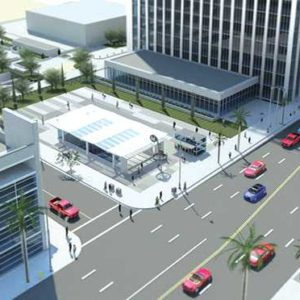 The memorandum of agreement between Bevrely Hills and Metro will specify terms for construction on the Purple Line Extension, including the Rodeo/Wilshire station, depicted above. (rendering courtesy of Metro)